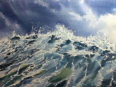 Stormy Seas in Watercolour