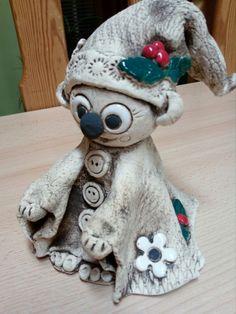 Air Dry Clay, Ceramic Art, Felting, Diys, Presents, Teddy Bear, Pottery, Sculpture, Christmas