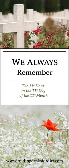 We Always Remember – The 11th Hour on the 11th Day of the 11th Month #remembranceday #veteransday #tradingdesksfordirt