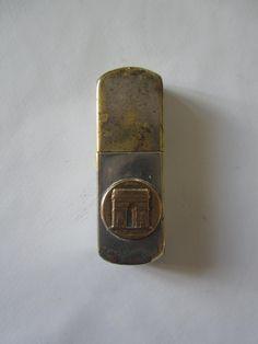 Vintage French lighter Paris souvenir 1940s Arc de Triomphe