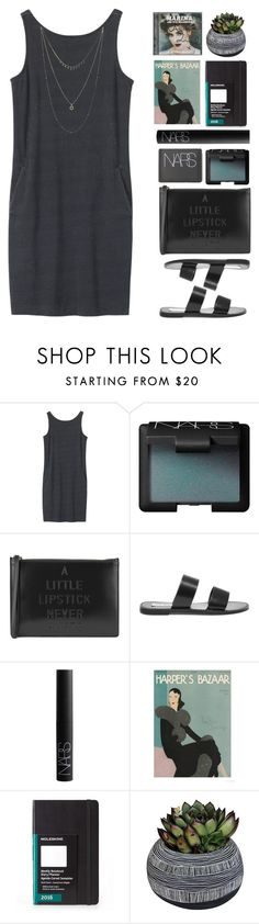 """""""Untitled #1778"""" by tacoxcat ❤ liked on Polyvore featuring Toast, NARS Cosmetics, Lulu Guinness, Steve Madden, Moleskine, Half Light Honey and Lucky Brand"""