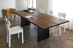 Eettafel notenhout 2 plank