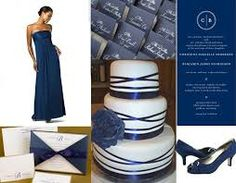 Image result for wedding color schemes with navy blue