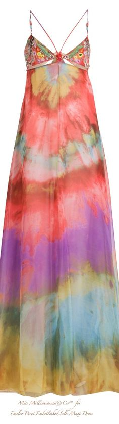 Emilio Pucci Embellished Silk Maxi Dress S/S 2015 041715