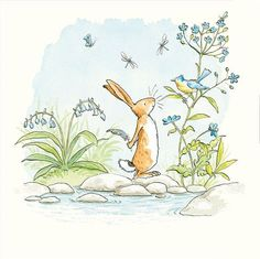The World of Cute Love: Sweet Illustrations by Anita Jeram. – Bookmarin - The World of Cute Love: Sweet Illustrations by Anita Jeram. – Bookmarin The World of Cute Love: S - Anita Jeram, Bunny Art, Children's Book Illustration, Cute Love, Cute Drawings, Painting & Drawing, Watercolor Art, Sketches, Artwork