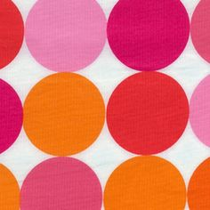 Michael Miller Disco Dot Flamingo Fabric by luckykaerufabric