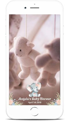 Baby Shower Snapchat Filter Floral Elephant Geofilter Baby Baby Shower Templates, Baby Shower Printables, Baby Shower Games, Baby Boy Shower, Twin Babies, Baby Elephant, Snapchat, Filter, Coupon