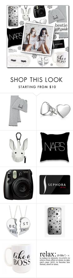 """#578 - Gift Guide: Besties"" by lilmissmegan ❤ liked on Polyvore featuring Karl Lagerfeld, Bling Jewelry, Kendall + Kylie, Fujifilm, Sephora Collection, Rianna Phillips, Moon and Lola, WALL, BFF and besties"