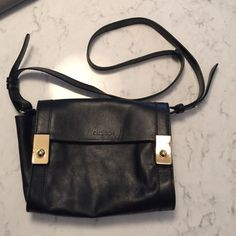 """Cross body  bag Good crossbody bag for shopping. 8"""" wide, 6"""" high (closed) 3"""" deep. Magnet closure, sides widens for space. 19"""" shoulder strap drop. Real leather. Barely used. No trades please See by Chloe Bags Crossbody Bags"""