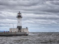 Duluth Harbor North Breakwater Lighthouse In Duluth, Minnesota