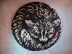 Cat Statuary Wall Hanging Handcast Hand by MountainArtCasting