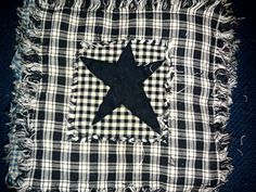 Star quilted Ragg candle coaster. Homemade by 4Paws Candles.