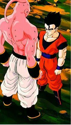 Majin Buu vs Gohan - Dragon Ball Z Buu: So hot shot you want to fight Buu. Gohan: Fight you. No i want to kill you! Dragon Ball Gt, Bd Comics, Anime Comics, Akira, Image Dbz, Majin Boo Kid, Gif Naruto, Buu Dbz, Dbz Wallpapers