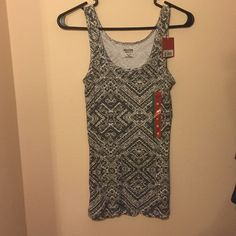 Cute printed tank Mossimo tank top. Grey and white. NWT Mossimo Supply Co. Tops Tank Tops