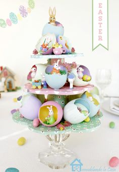 Remodelando la Casa: Easter Egg Tree Centerpiece