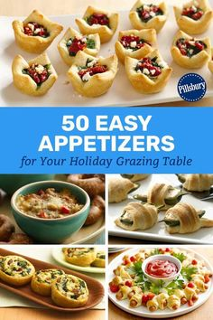 The 50 Easiest Christmas Appetizers From new twists like a pull-apart crescent Christmas tree to tried-and-true classics like baked brie, make this holiday season the easiest (and most delicious) one ever with these quick, crowd-pleasing apps. Finger Food Appetizers, Appetizers For Party, Appetizer Recipes, Easy Christmas Appetizers, Appetizer Dessert, Christmas Party Food, Christmas Tree, Christmas Apps, Office Christmas