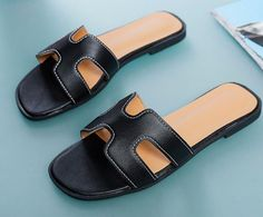 3e98a9edc H sandals loafers beach slippers woman slippers summer sandals slide  sandals female shoes shoes woman 2018 designer slide loafer