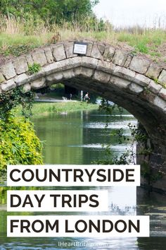 Take a train from London - here are the best countryside day trips to take. Bus Travel, Travel Tips, Arlington Row, Visit Rio, Cotswold Villages, British Travel, Day Trips From London, Cathedral City, Relaxing Day