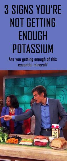 3 Signs You're Not Getting Enough Potassium. #potassium #vitamindeficiency #droz #drozshow #nutritiontips