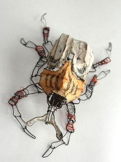 Joel Armstrong - wire and installation artist - beetle 4