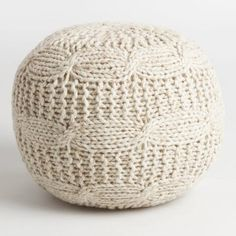 Accessorize any space with our cozy, sweater-inspired pouf, ideal for distinguishing small spaces and adding extra seating for guests.