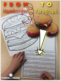 FREEBIE! How hamburgers can help students write outstanding paragraphs!