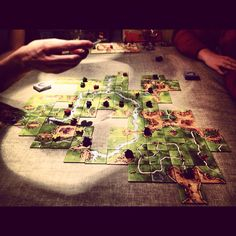 Carcassonne - game in progress