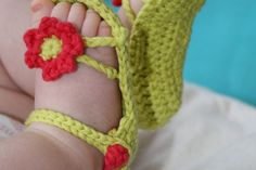 Baby Sandals Free Crochet Pattern