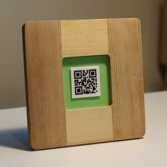 QR Code Cross Stitch: Framed