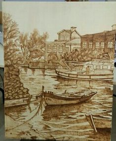 Black Pen Sketches, Wood Burning Art, Pyrography, Colored Pencils, Carving, Embroidery, Drawings, Painting, Wooden Crafts