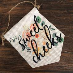 Nursery Decor / Baby's room / Baby shower gift! Wall Banner, Room Baby, Sweet Cheeks, Zodiac Constellations, Mini Canvas, Handmade Items, Handmade Gifts, Wall Hangings, Wood Wall