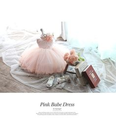 Pinky babe dress TuTu dress Infant Baby Toddlers by Angelagirl, $58.00