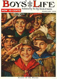 1933 ... 'Scouts of the World'- Norman Rockwell