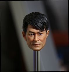 "49.00$  Watch now - http://aliscq.worldwells.pw/go.php?t=32770650301 - ""1:6 scale male Figure accessories Hong Kong star Louis Koo Tin Lok head shape carved for 12"""" Action figure doll.not include body"" 49.00$"
