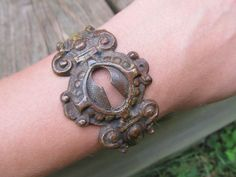 Upcycled door hardware as jewelry!