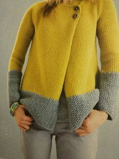 Modèle Veste Phil Looping Femme Knitting is actually a method by which yarn can be Free Knitting, Baby Knitting, Cardigan Pattern, Knit Jacket, Knitting Designs, Knitwear, Knit Crochet, Knitting Patterns, Jackets For Women