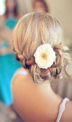 Bridesmaid Hairstyles with Flower - nicole you love those flowers :)