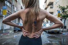 Beautiful lapis lazuli macrame pendant Macrame necklace