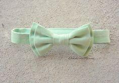 Mint Green Bow tie - boys double bow Mint Green bowtie. $12.95, via Etsy.