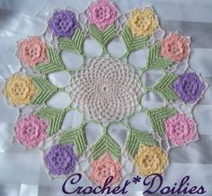 CrochetDoilies.com - Free Patterns for Crocheting, Spring Crochet Flower with Leaves