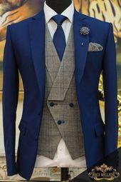 53 popular groom suit ideas for your perfect wedding Blazer Outfits Men, Mens Fashion Blazer, Suit Fashion, Blazer Dress, Dress Fashion, Dress Outfits, Casual Outfits, Wedding Dress Men, Wedding Men