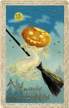 Vintage Halloween Image Free  Ghost