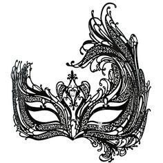 ECOSCO Big Swan Metal Filigree Laser Cut Venetian Masquerade Mask w/... ($17) ❤ liked on Polyvore featuring masks