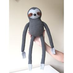 Simon the Sloth: A Crochet toy PDF Pattern by AnnaboosHouse on Etsy
