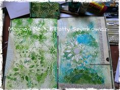 art journal pages in progress