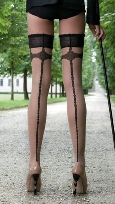 Becky Seamed Stay Up Stockings