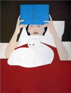 """Woman Reading"", 1970 / Will Barnet (b. 1911) / Collection of Will and Elena Barnet"
