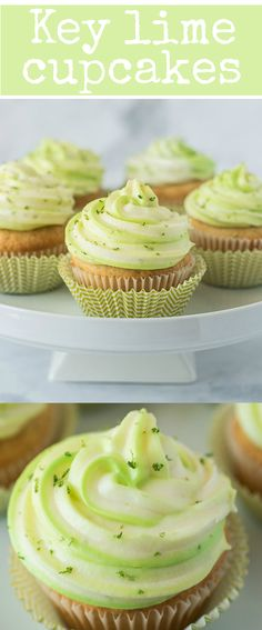 Key lime cupcakes taste like key lime pie. With key lime juice and zest in the l… Key lime cupcakes taste like key lime pie. With key lime juice and zest in the light and fluffy cupcakes and cream cheese frosting. Key Lime Cupcakes, Fluffy Cupcakes, Yummy Cupcakes, Flavored Cupcakes, Turtle Cupcakes, Cream Cheese Cupcakes, Pretty Cupcakes, Cheesecake Cupcakes, Strawberry Cupcakes