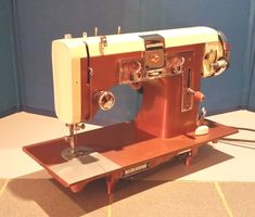 This vintage Kenmore 117.841 sewing machine was made in Germany by Pfaff just after WWII.