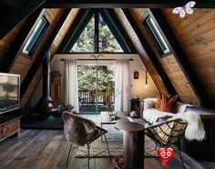 Deep in the forest, A wonderful cozy cottage<br> Rustic Home Interiors, Rustic Home Design, Cabin Design, Modern Cabin Interior, Modern Cabin Decor, Cabin Interior Design, Wood House Design, Design Homes, Cottage Design